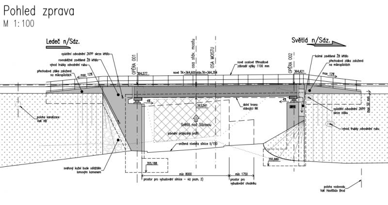 Most Ledec pohled zprava, obrázek se otevře v novém okně